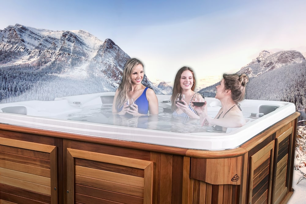 Artic Spas Klondiker with people