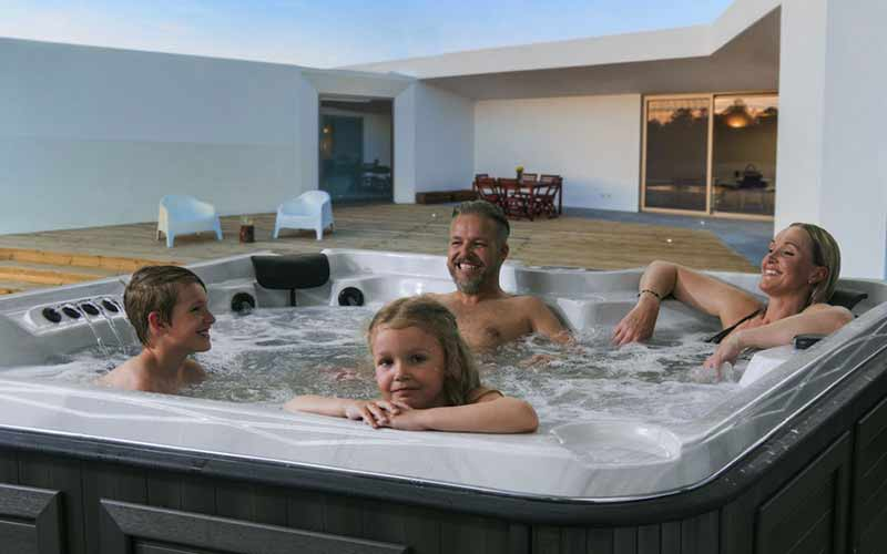 Artic Spas Summit with people