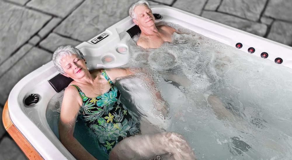 Arctic Spas Timberwolf in use